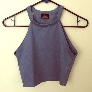 Cute and stretchy blue crop top from Zara